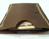 Custom Made Mens Womens Leather Front Pocket Wallet Credit Card Business Card Holder