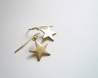 Gold star earrings. Dainty jewelry. Great gift for teachers.