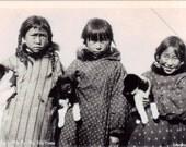 Vintage Alaska Postcard - Six Little Arctic Natives (Unused)