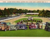 Vintage North Carolina Postcard - Blowing Rock Charity Horse Show (Unused)