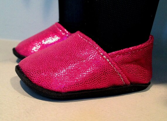 "Pink Glitter Shoes inspired by TOMS fits 18"" AG Doll"