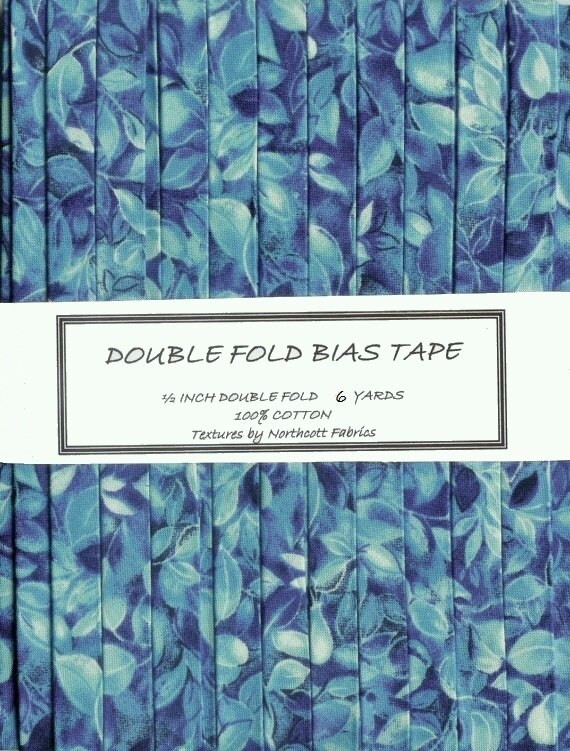 6 Yards HANDMADE Double Fold BIAS Tape - Blue Textures from Northcott