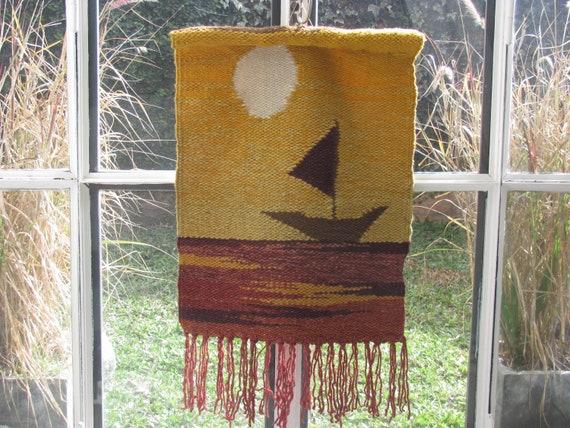 Handmade 70's Woven Wall Hanging