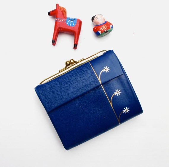 60s Wallet Lady Buxton Royal Blue Leather as new