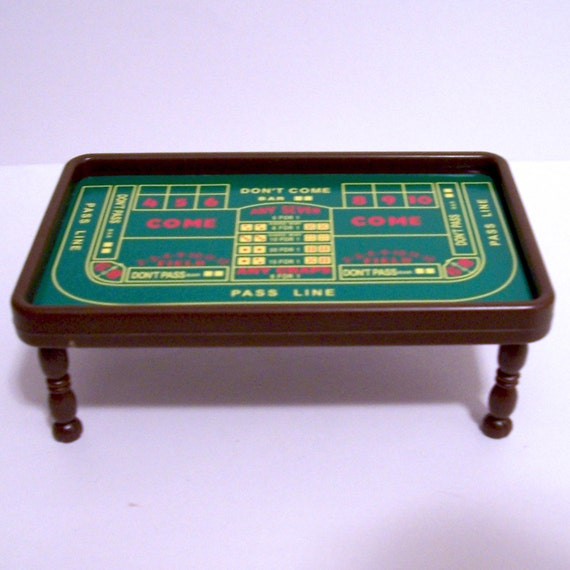 Craps table rug