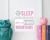 11 x 14 Let HER sleep print custom color nursery