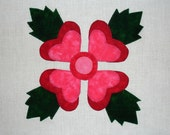 Lancaster Rose Baltimore Album Appliqued  Quilt Block