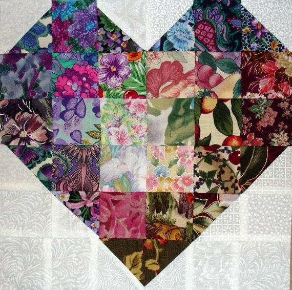 Colorwash Heart Quilt Block