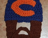 Chicago Bears Inspired 6 to 12 Months Baby Beard Beanie Can Customize Size