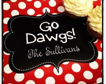 Personalized Georgia Go Dawgs Melamine Platter