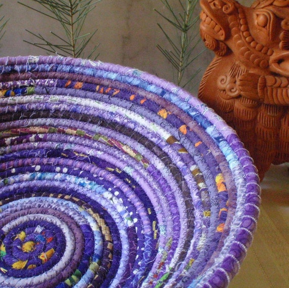 Coiled Basket - Purple Gypsy - LARGE