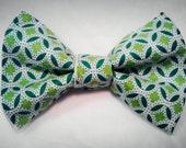 "The ""Shades of Green Dog/Cat Bow Tie -CUSTOM-"