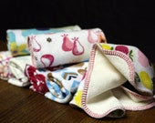 Cloth Wipes- Bamboo Velour / Cotton Knit- 12 Pack Girl Variety