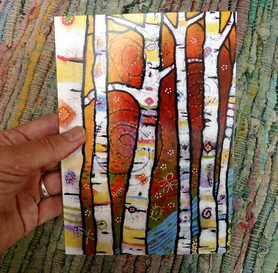 5 x 7 Whimsical Tree Greeting Card