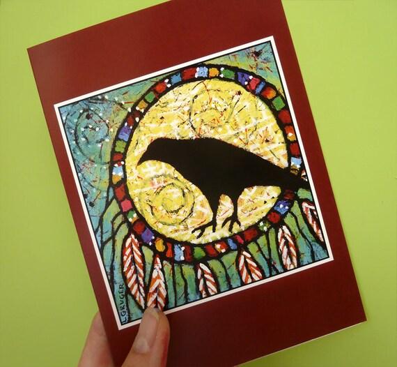Whimsical Raven Spirit Card