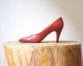 YSL Color Block Red Heels