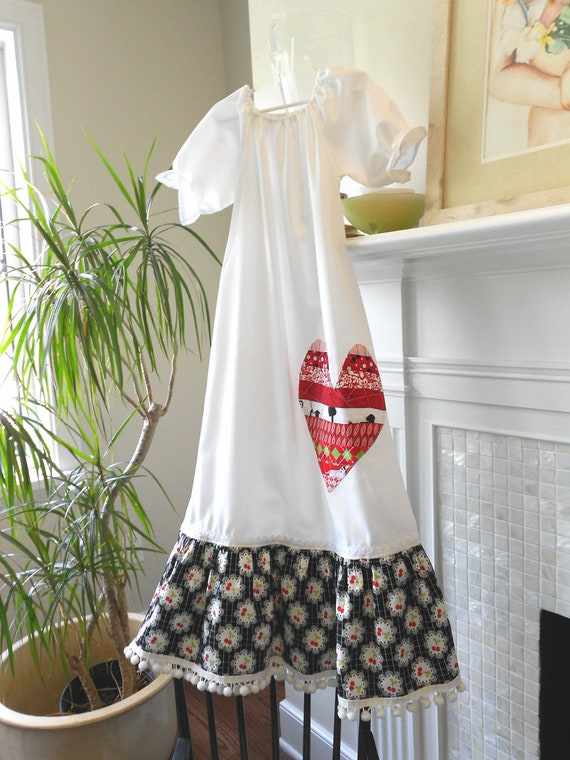 "Nightgown Size 8 "" Delighfully Cool Cherries""   Designer Cotton betrueoriginals"