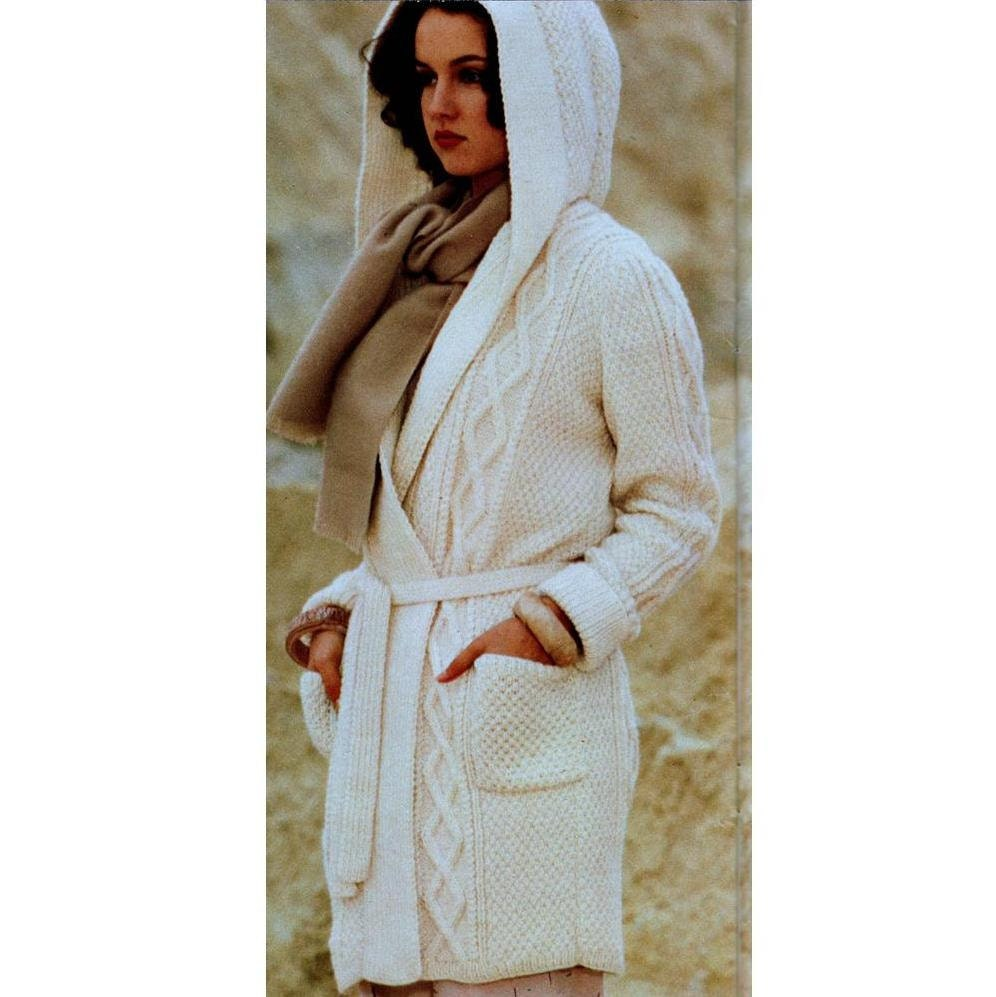 Aran Knitting Pattern With Hood : INSTANT DOWNLOAD PDF Vintage Knitting by PastPerfectPatterns