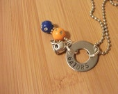 Florida Gators football inspired necklace - hand stamped