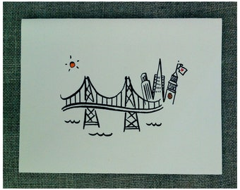 San Francisco Skyline Note Card