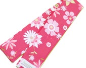 DSLR Camera Strap Cover with Lens Cap Pocket Option -- Hot Pink Floral -- Ready To Ship