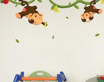 Monkeys Gone Bananas Wall Decals