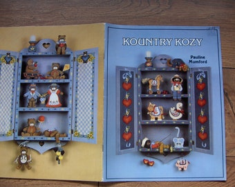 Vintage 80s Tole Painting book KOUNTRY KOZY