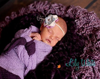 """Baby Clouds Wrap- -""""Lavender Fields"""""""
