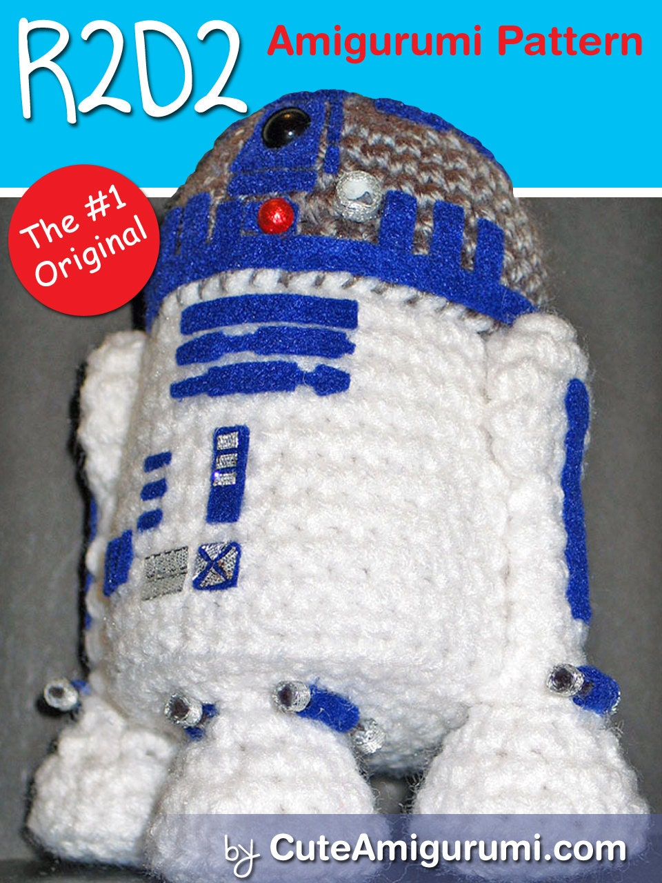 Death Star Amigurumi Pattern : Star Wars R2D2 Amigurumi Pattern by janama on Etsy