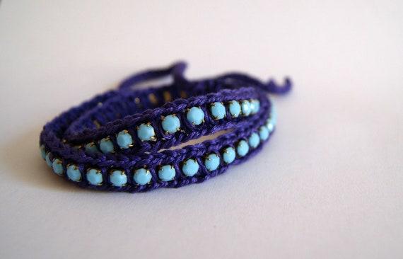 Friendship bracelet / crochet wrap bracelet