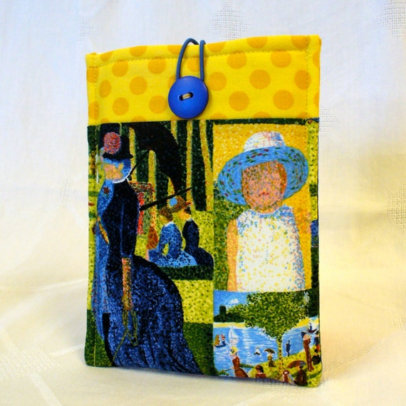 KINDLE Cover Ebook Case Kindle Fire Cover Padded Kindle Sleeve Georges Seurat Fabric A Sunday Afternoon