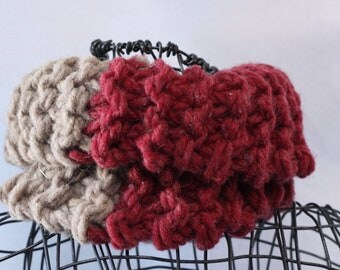 Good and Evil, Thick and Chunky, Hand Knit Scarf