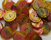 60% off coupon code in shop announcement - Multi Colored Irridescent Buttons - 15/16 inch - 23mm - YOU PICK QUANTITY 25 to 150
