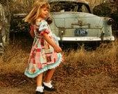 Ruffled Princess Dress Pattern for Girls size 2T 3T 4 5 6 7 8 10 paper sewing pattern