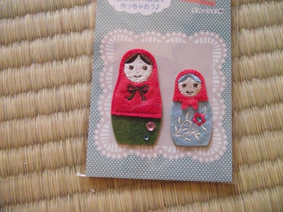 Russian doll appliques or stickers