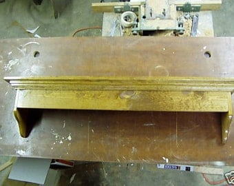 Pine Window Cornice Wall Shelf 48 Inches Wide Country Shelf