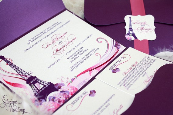 Gorgeous Paris Wedding Invitations by SDezigns Catch My Party