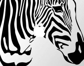Laptop or Ipad Zebra Decal