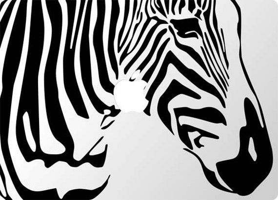 Laptop or Ipad Zebra Decal