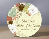 Personalized Pocket Mirror - Floral Mother of the Groom 3.5 inch Pocket Mirror with Gift Bag - Weddings - Mother of the Groom Gift