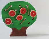 Lacing Friends - The Apple Doesn't Fall Far From the Lacing Tree - Montessori Waldorf inspired Fine Motor Skills Toy