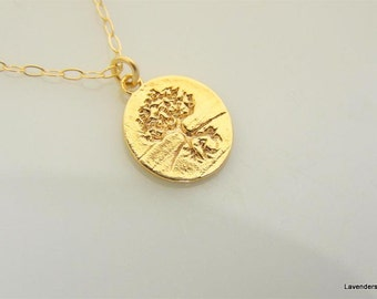 Tree Of Life Necklace , Gold Necklace , Family Tree Necklace , 14k Gold Fill