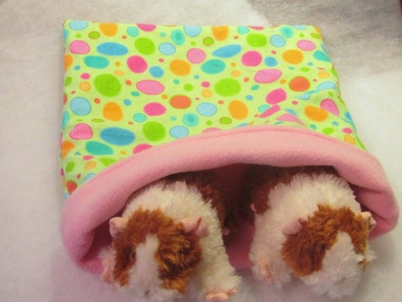 Snuggle Pouch/Cuddle Sack for Small Animals 13 X 11 1/2 in Fleece and Flannel Reversible