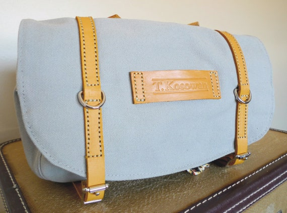 Classic Vintage Style Bicycle Bag (Grey and Yellow)