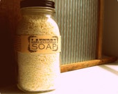 Mason Jar Natural Laundry Soap / Eco Friendly Handmade Laundry Detergent