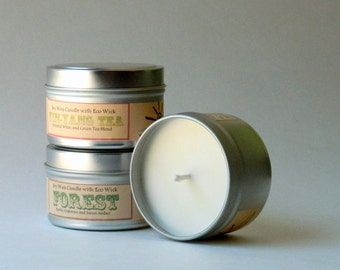 Choose 3 Eco Friendly Soy Candles / Relaxing Scented Candle Gift Set / Aromatherapy Mothers Day