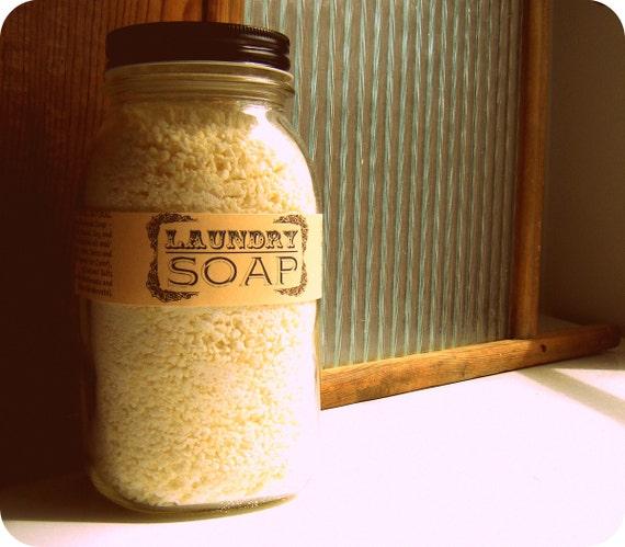 Mason Jar Natural Laundry Soap / Eco Friendly Handmade Laundry Detergent