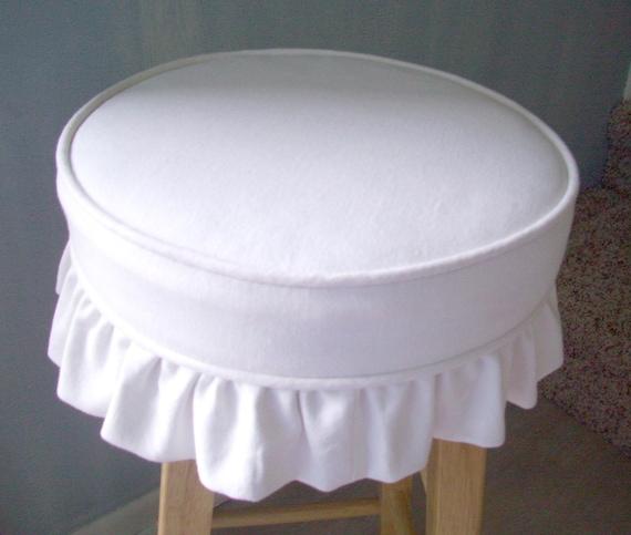 Bar Stool Slipcover Cushion White Canvas Ruffled Skirt : il570xN357918080c7mw from www.etsy.com size 570 x 483 jpeg 44kB