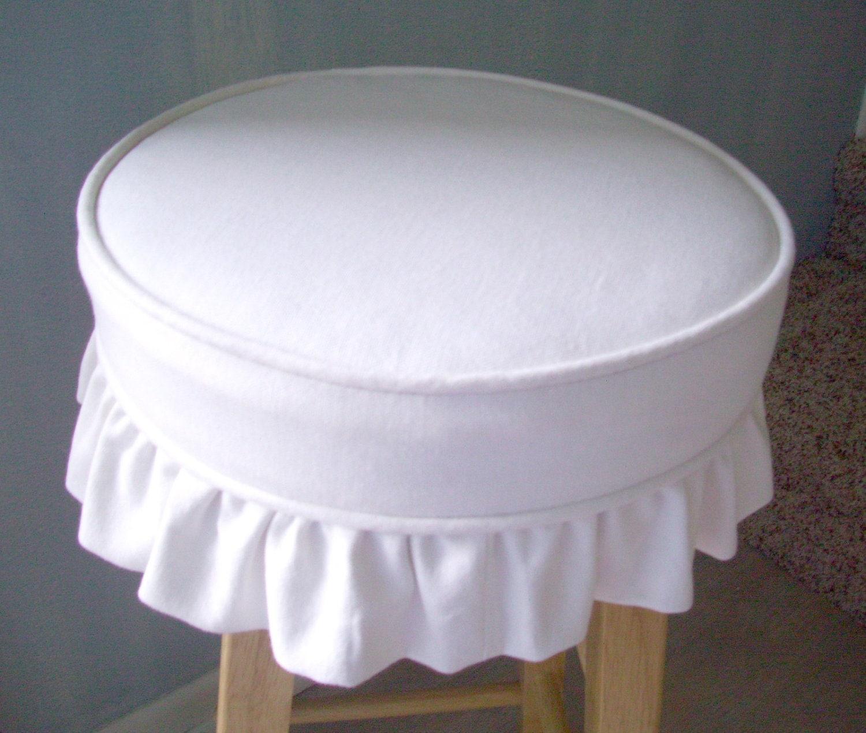Bar Stool Slipcover Cushion White Canvas Ruffled Skirt : ilfullxfull357918080c7mw from www.etsy.com size 1500 x 1270 jpeg 322kB