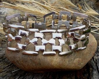 Silver Link Bracelet - 912